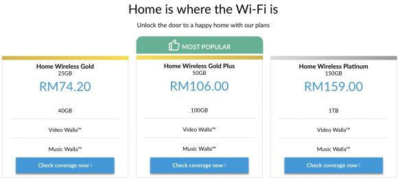 Celcom has a new Home Wireless broadband service with up to 1TB of