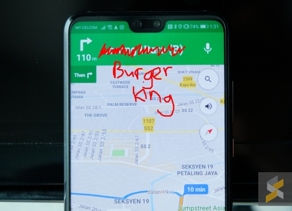 Google Maps will apparently tell you to turn right after Burger King on