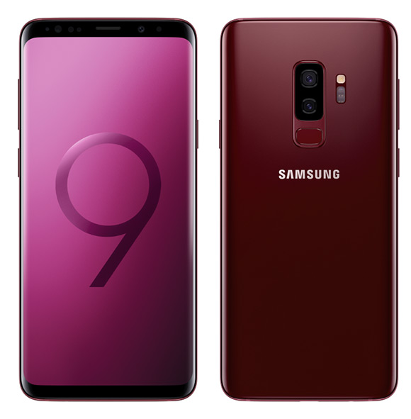 And Burgundy Red on Galaxy S9