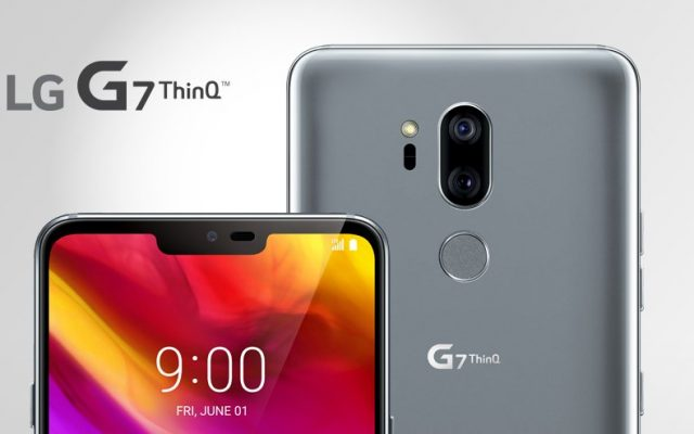 LG G7 ThinQ is a flagship smartphone that has a notch and AI dual-cameras
