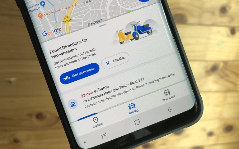 Google Maps now offers better navigation for Motorcyclists in Malaysia