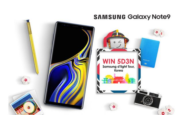 Celcom offers the Galaxy Note9 from RM94/month and a chance to win a trip to South Korea