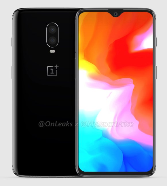Renders of the OnePlus 6T has been leaked showcasing a waterdrop notch