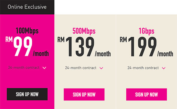 TIME offers 1Gbps Fibre Broadband for only RM199/month