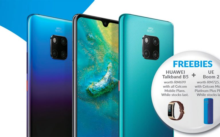 Celcom offers the Huawei Mate 20 from RM0