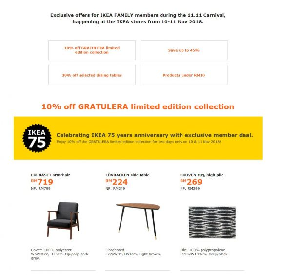 Ikea Malaysia Offers Deals In Conjunction With 1111 But