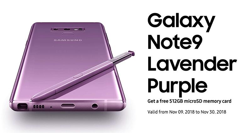 Samsung Galaxy Note9 Malaysia Lavender Purple