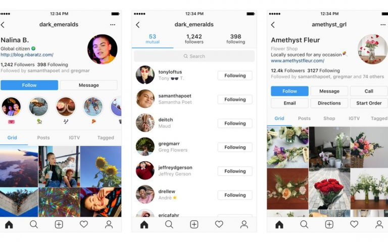 Instagram is testing a new profile page design
