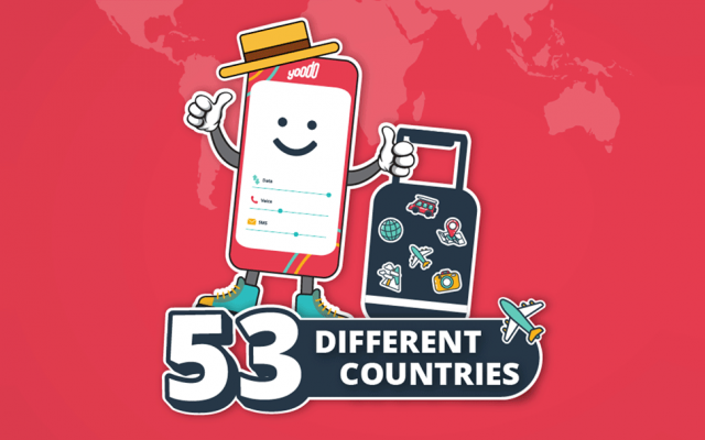 Yoodo lets you travel with your calls, SMS and data in 53 countries
