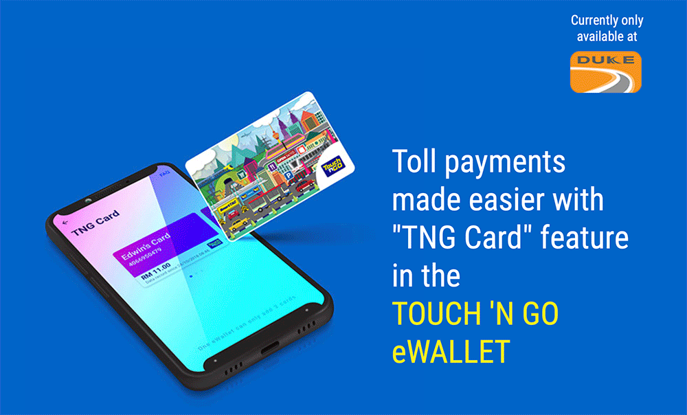 Pay for toll using the TNG card with your TNG e-wallet balance