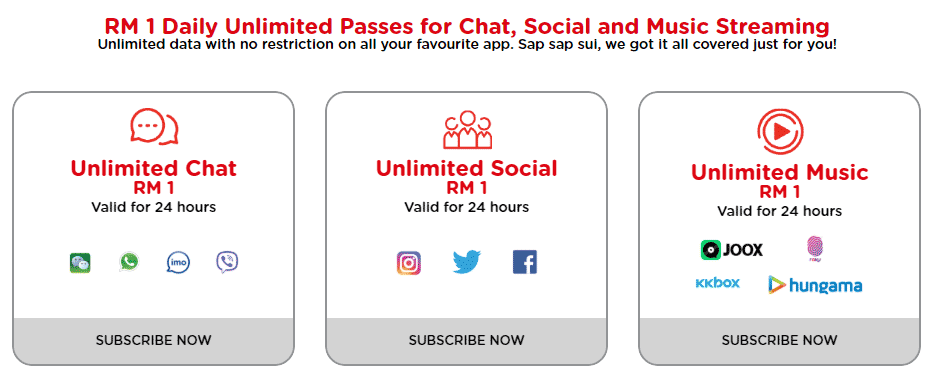 Tune Talk #SureOne prepaid offers unlimited data for Chat