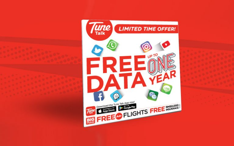 Tune Talk offers free data up to 12 months when you switch to their Value Prepaid plan
