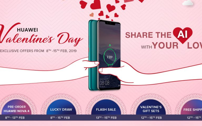 Huawei Malaysia is offering free gifts worth up to RM500 during their Valentine's Day promo