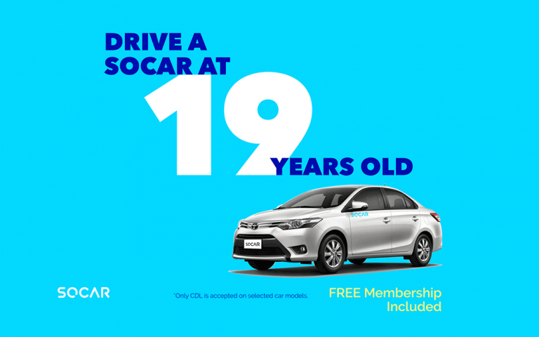 SOCAR is now available for 19-year-olds