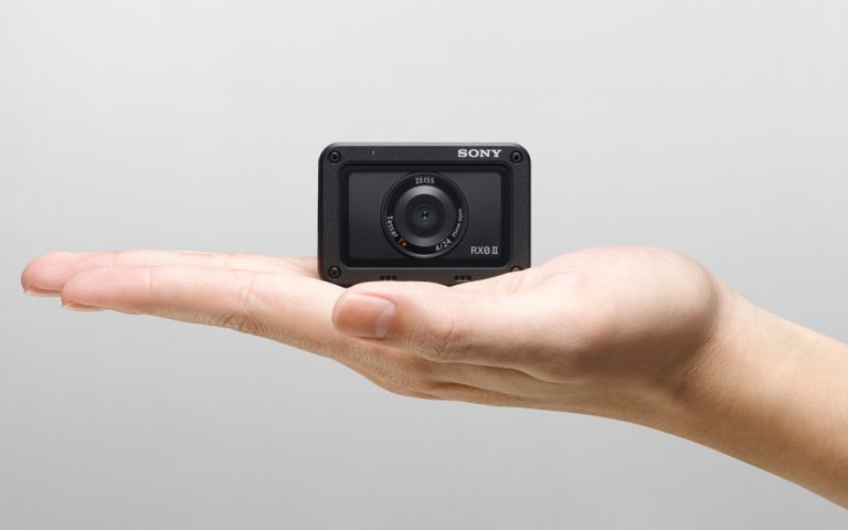 The Sony RX0 II is a tiny action camera that comes with a flip-up display