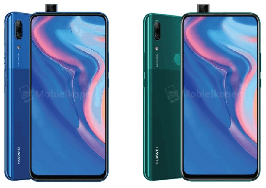Renders leak of Huawei's first smartphone with a pop-up camera