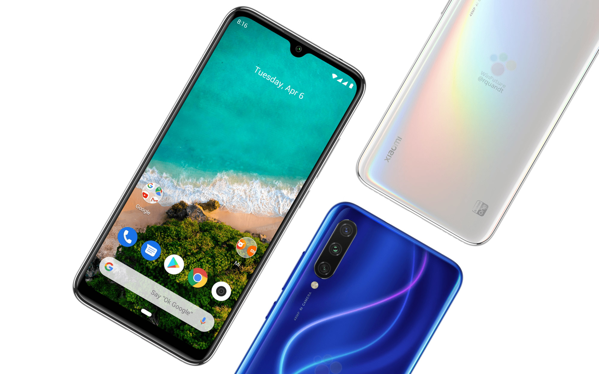 This is the Mi A3, Xiaomi's new pure Android smartphone