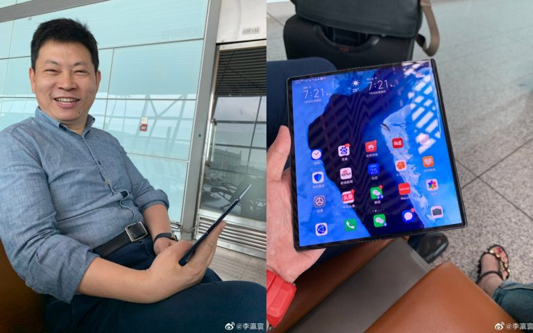 A different Huawei Mate X was spotted, comes with a quad-camera setup
