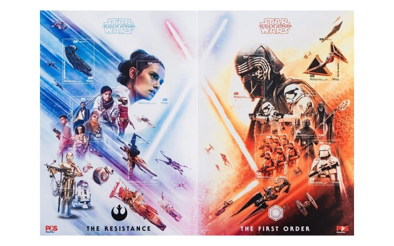 Pos Malaysia releases Star Wars: The Rise of Skywalker stamp series
