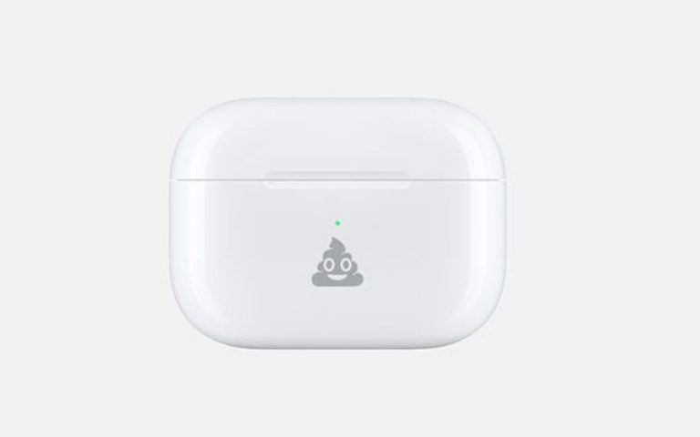 Engrave your AirPods case with a poop emoji, just because you can
