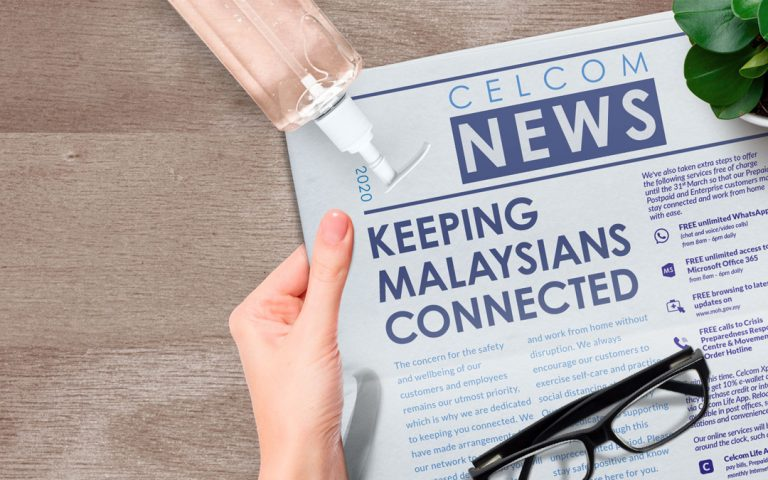 COVID-19: Celcom's new offers are designed to help you stay safe and connected