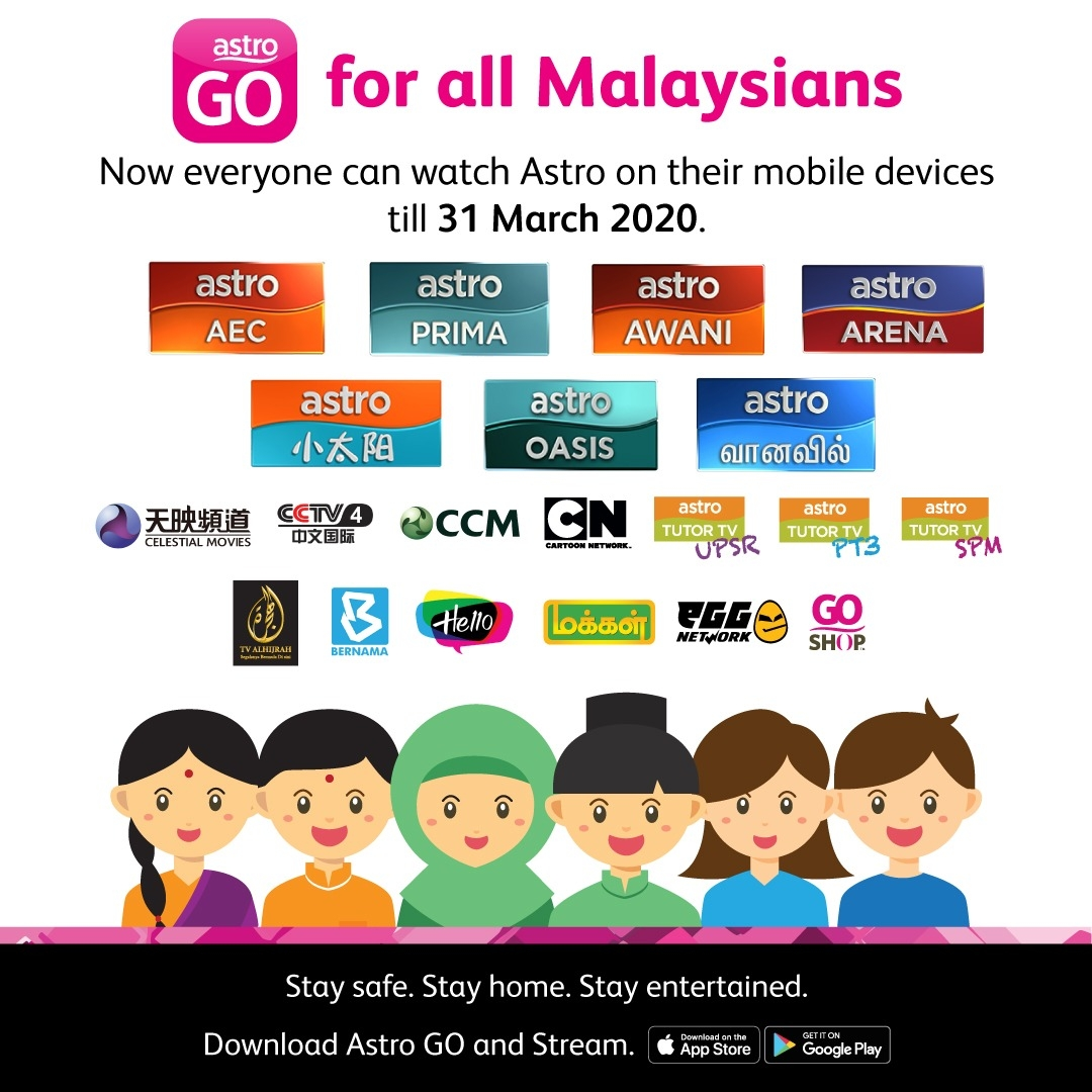 Free Astro Go for all Malaysians MCO
