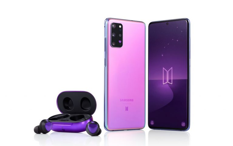 Samsung's new Galaxy S20+ and Galaxy Buds+ BTS Edition look gorgeous in purple