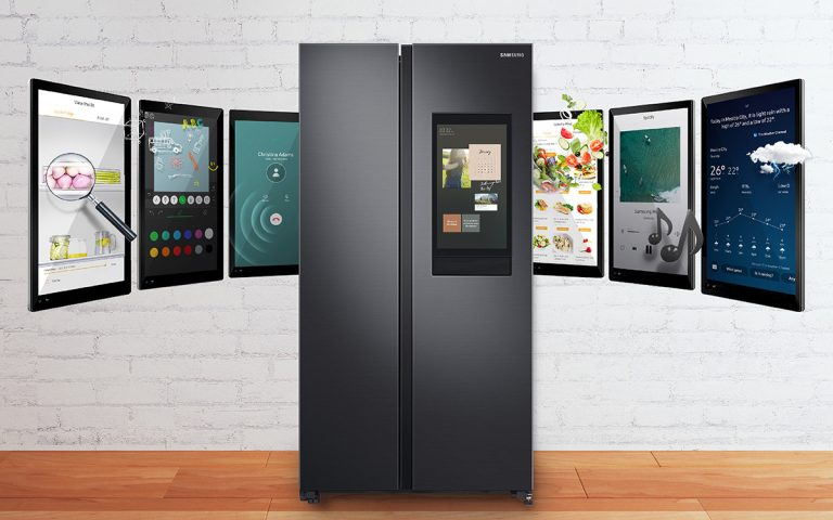 Samsung's new fridge lets you view its contents on your phone and it even supports Spotify