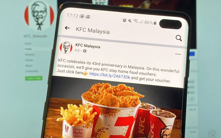 PSA: Beware of fake KFC Malaysia Facebook pages offering free vouchers